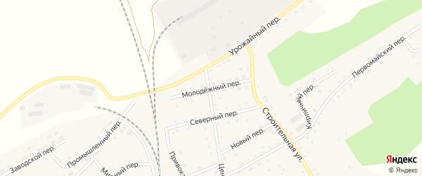 Молодежный переулок на карте Гордеевского поселка с номерами домов
