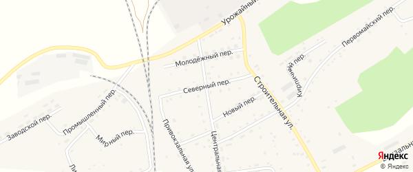 Северный переулок на карте Гордеевского поселка с номерами домов