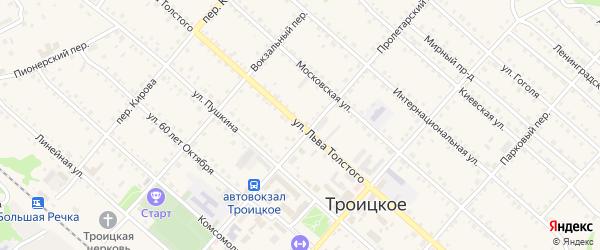 Улица Л.Толстого на карте Троицкого села с номерами домов