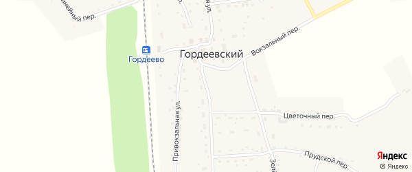 Центральная улица на карте Гордеевского поселка с номерами домов