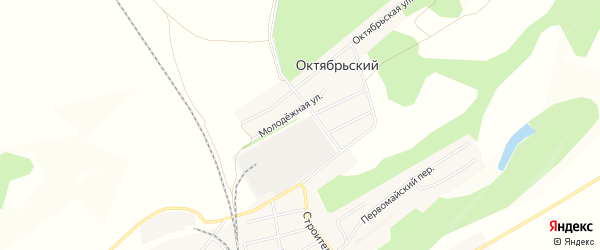 Карта Октябрьского поселка в Алтайском крае с улицами и номерами домов