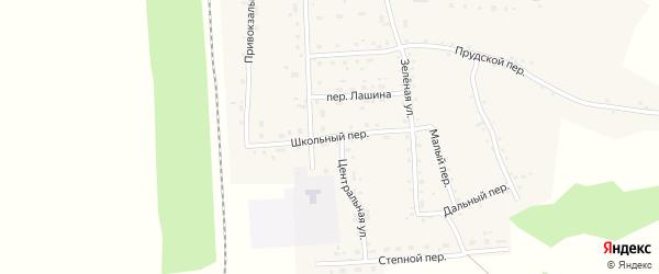 Школьный переулок на карте Гордеевского поселка с номерами домов