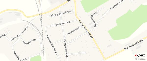 Новый переулок на карте Гордеевского поселка с номерами домов
