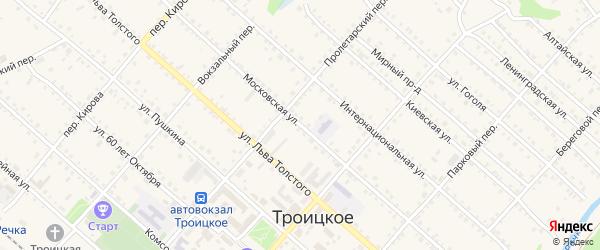 Московская улица на карте Троицкого села с номерами домов