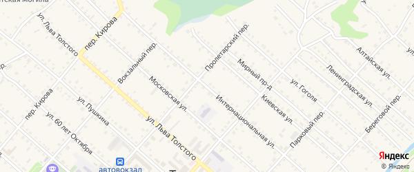 Интернациональная улица на карте Троицкого села с номерами домов