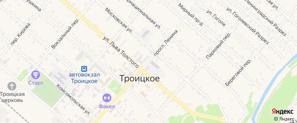 Проспект Ленина на карте Троицкого села с номерами домов