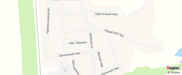 Зеленая улица на карте Гордеевского поселка с номерами домов
