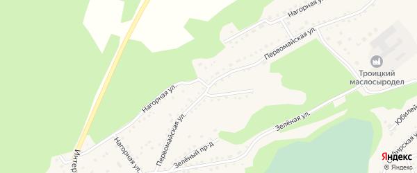 Нагорная улица на карте Троицкого села с номерами домов