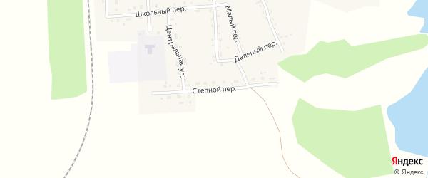 Степной переулок на карте Гордеевского поселка с номерами домов