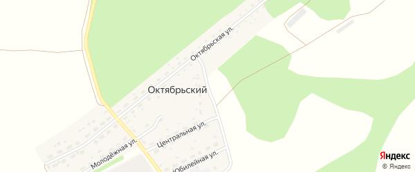 Лесная улица на карте Октябрьского поселка с номерами домов