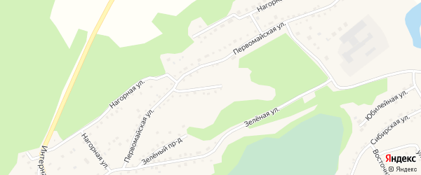 Первомайская улица на карте Троицкого села с номерами домов