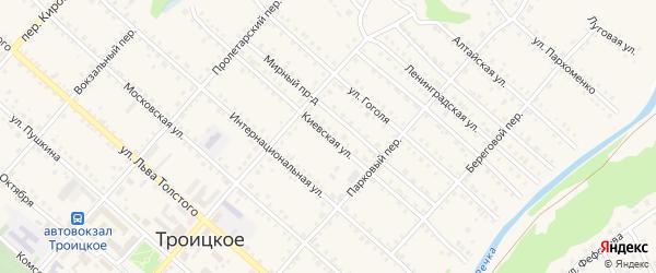 Киевская улица на карте Троицкого села с номерами домов