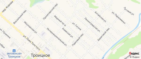 Мирный проезд на карте Троицкого села с номерами домов