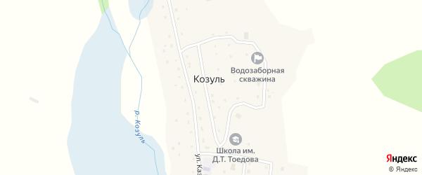 Улица имени В.Д.Папитова на карте села Козуля с номерами домов