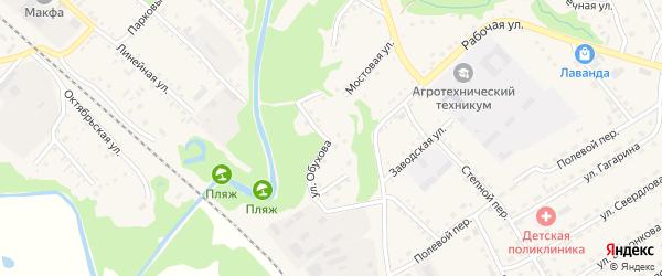 Улица Обухова на карте Троицкого села с номерами домов