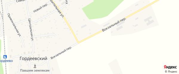 Вокзальный переулок на карте Гордеевского поселка с номерами домов