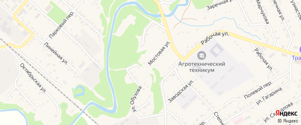 Мостовая улица на карте Троицкого села с номерами домов