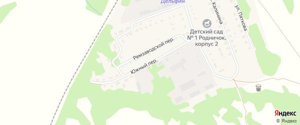 Южный переулок на карте Троицкого села с номерами домов