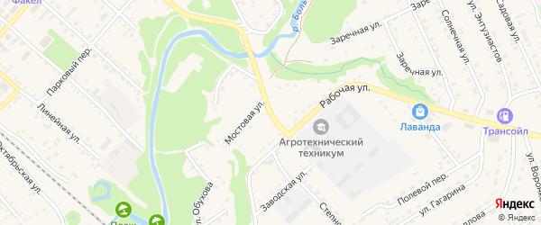 Центральный переулок на карте Троицкого села с номерами домов