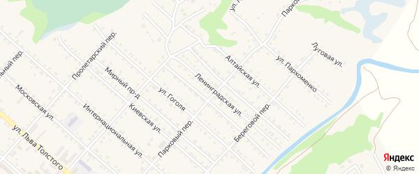 Ленинградская улица на карте Троицкого села с номерами домов