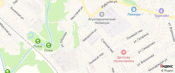 Заводская улица на карте Троицкого села с номерами домов