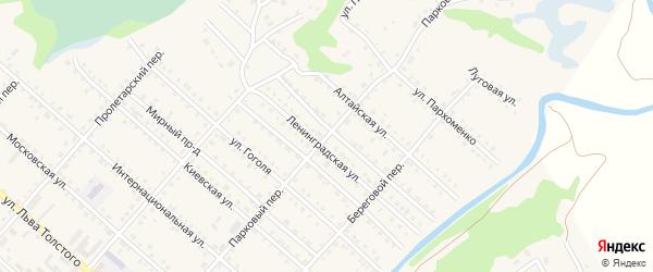 Парковый переулок на карте Троицкого села с номерами домов