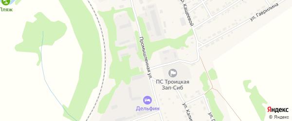 Промышленная улица на карте Троицкого села с номерами домов