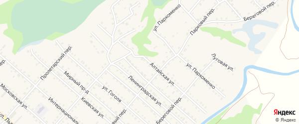 Алтайская улица на карте Троицкого села с номерами домов