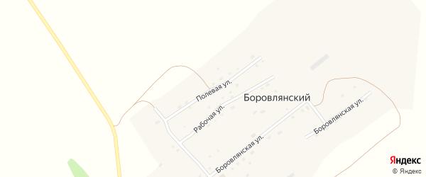 Полевая улица на карте Боровлянского поселка с номерами домов