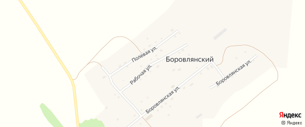 Рабочая улица на карте Боровлянского поселка с номерами домов