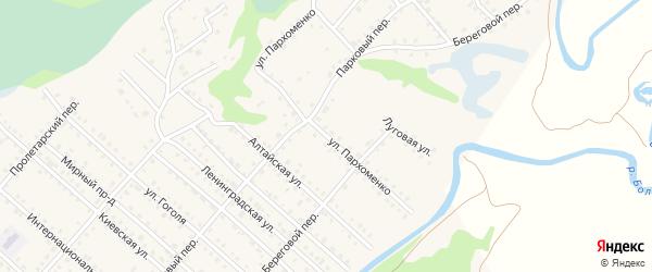 Улица Пархоменко на карте Троицкого села с номерами домов