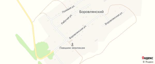 Школьная улица на карте Боровлянского поселка с номерами домов