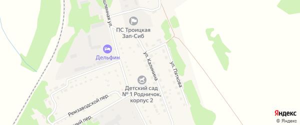 Улица Калинина на карте Троицкого села с номерами домов