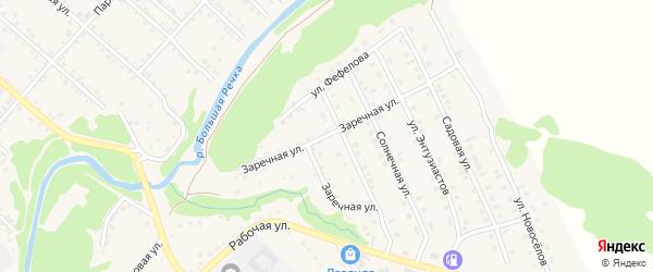 Заречная улица на карте Троицкого села с номерами домов