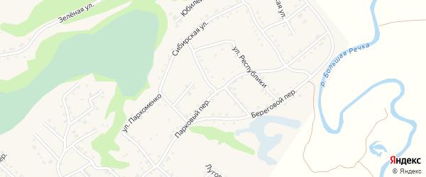 Восточная улица на карте Троицкого села с номерами домов