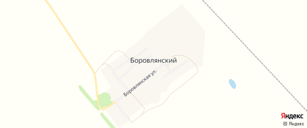 Карта Боровлянского поселка в Алтайском крае с улицами и номерами домов