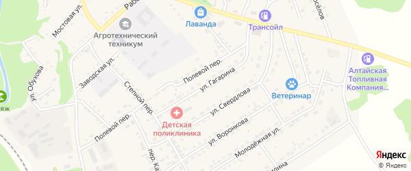 Улица Гагарина на карте Троицкого села с номерами домов