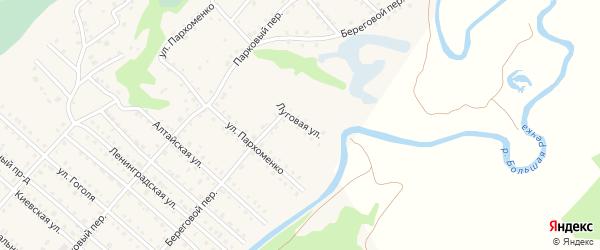 Луговая улица на карте Троицкого села с номерами домов
