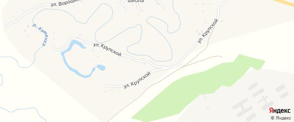 Улица Крупской на карте села Залесово с номерами домов
