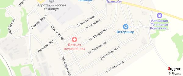 Улица Свердлова на карте Троицкого села с номерами домов