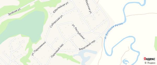Улица Республики на карте Троицкого села с номерами домов