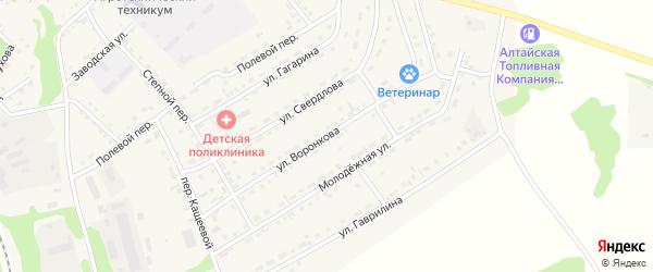 Улица Воронкова на карте Троицкого села с номерами домов