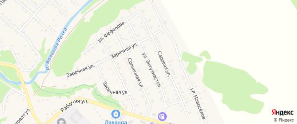 Улица Энтузиастов на карте Троицкого села с номерами домов