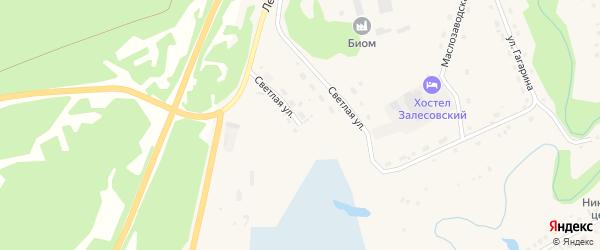 Светлая улица на карте села Залесово с номерами домов