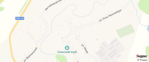 Улица Розы Люксембург на карте села Залесово с номерами домов