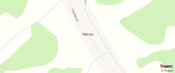 Горная улица на карте села Чегона с номерами домов