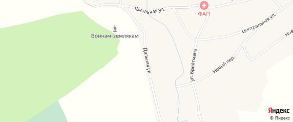 Дальняя улица на карте села Комарово с номерами домов