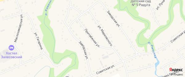 Притаежная улица на карте села Залесово с номерами домов
