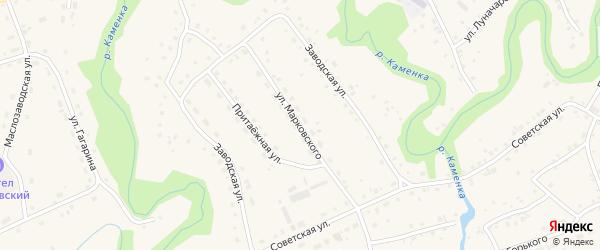 Улица Марковского на карте села Залесово с номерами домов