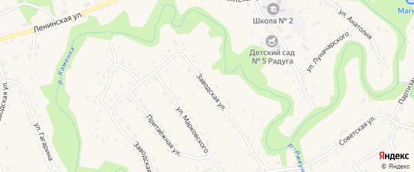 Заводская улица на карте села Залесово с номерами домов
